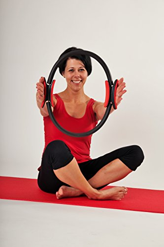 32bfit Pilates Ring Full Body Toning Fitness Magic Circle with 4 Page Exercise Guide and Carry Bag High Resistance Magic Ring for Strength, Flexibility, Posture and Sculpting