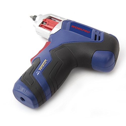 WORKPRO Cordless Rechargeable Power Screwdriver Lithium-ion 3.6V with Quick Change Bits by WORKPRO (Image #4)