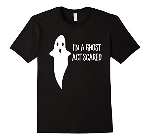 Mens Double Act Costumes (Mens Funny I'm A Ghost Act Scared Halloween Costume 3XL Black)