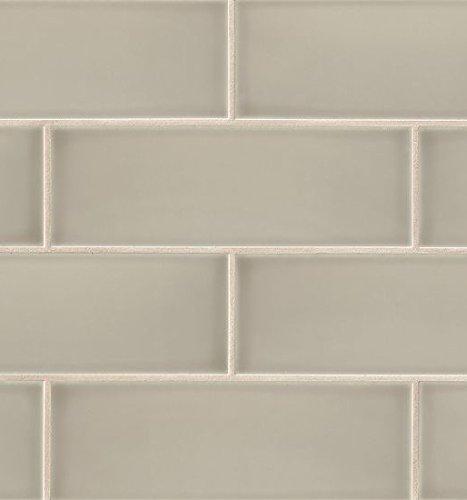 Bedrosians DOLGRASA412''Grace'' Glossy Wall Tile, 4'' x 12'', Sabbia