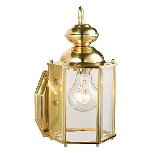 Outdoor Wall Light Polished Brass