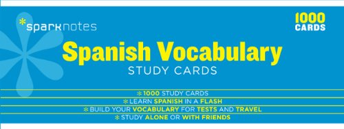 Spanish Vocabulary SparkNotes Study Cards