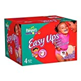 Pampers Easy Ups Trainers for Boys, Size 4, 88-Count