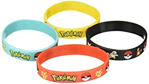 Gifts & Crafts Pokémon Party Supplies Silicone Wristband Bracelet Favors, 12 Piece