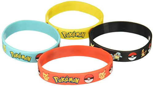 Gifts & Crafts Pokémon Party Supplies Silicone Wristband Bracelet Favors, 12 Piece]()