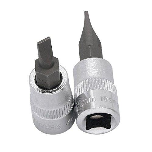 Kraftwerk 102065 Verre pointe rainur/ée 6,5 mm avec insertion 1//4