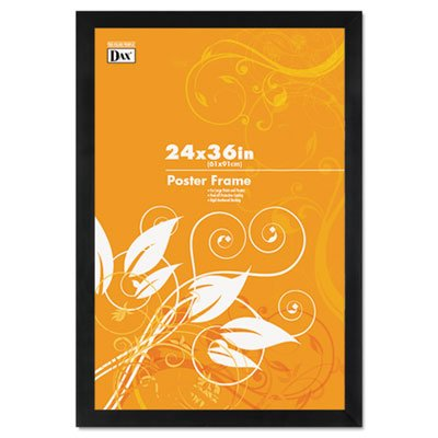 Black Wood Poster Frame w/Plastic Window, Wide Profile, 24 x 36