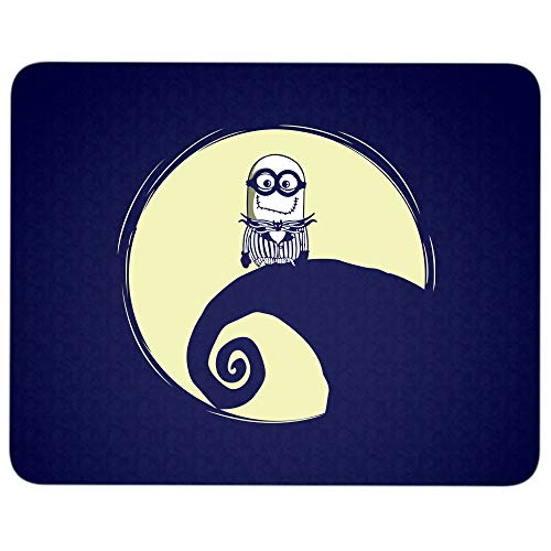 Especially Jack Skellington Minion Halloween Mouse Pad for Typist Office, Funny Minion Quality Comfortable Mouse Pad (Mouse Pad - Navy)