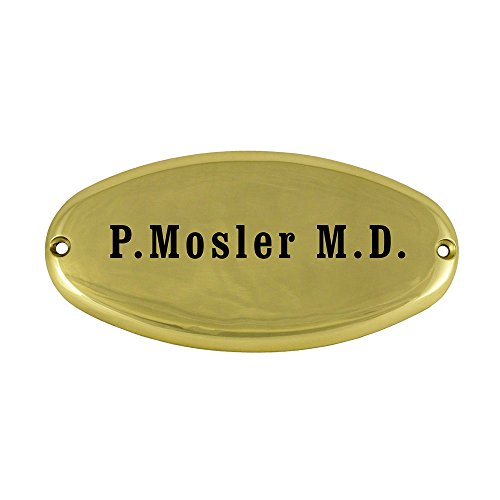 (Prestige Plaques Personalized Plaque, Small Oval Design, Solid Brass, Engraved, 3.5