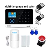 Wireless WiFi GSM GPRS Network Alarm System Home Security and Business Burglar Security