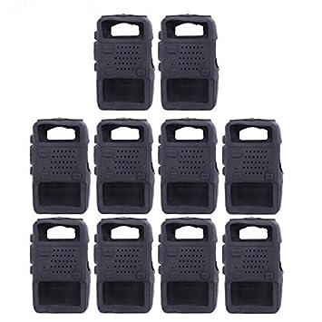 Mano de goma suave caso portátil carcasa de silicona para Baofeng UV-5R serie dos manera Radio Walkie Talkie: Amazon.es: Electrónica