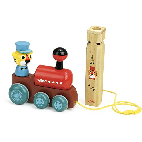 - Vilac Vilac7715 Train Pull Toy with A Whistle