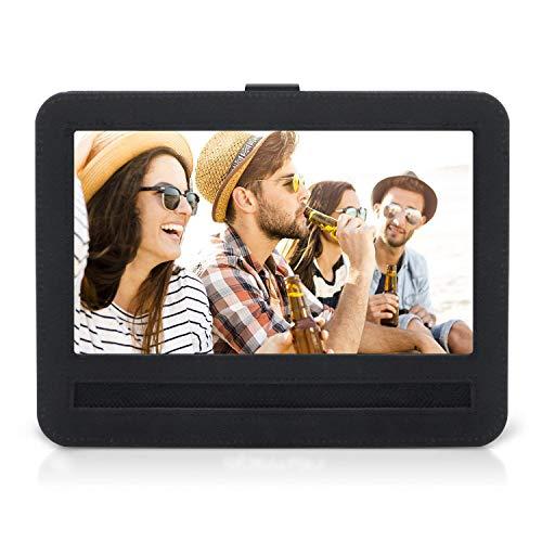 APEMAN 9-9.5 Car Headrest Mount Holder Strap Case for APEMAN Portable DVD Players with Swivel & Flip Screen Oxford Fabric Black