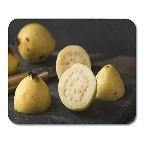 Semtomn Mouse Pad Green Raw Organic Yellow Guava Fruit Ready to Eat Mousepad 9.8