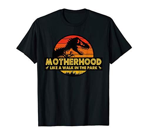 (Motherhood is a Walk in the Park Funny T-Shirt Mom Women)