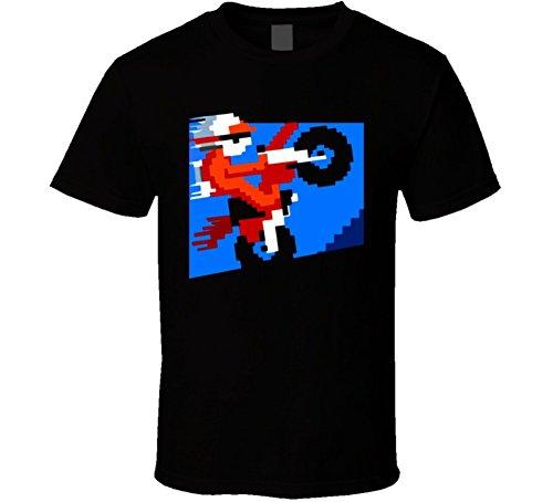 Excite Bike Video Game Classic T Shirt S Black