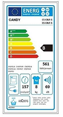 Candy CS C8LF-S - Secadora de condensación 8Kgs, 15 programas, NFC ...