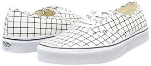grid Mixte White Blanc Vans Sneakers Authentic true Adulte pwq6pXEUx