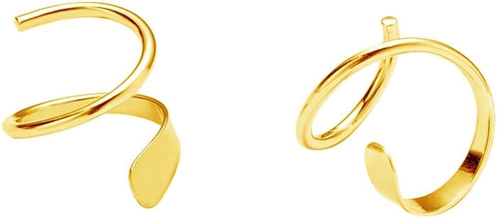 Minimalist Ear Climber Crawler Cuff Earrings for Women Girls Sterling Silver Cartilage Ear Piercing Wrap Earring Studs Hypoallergenic