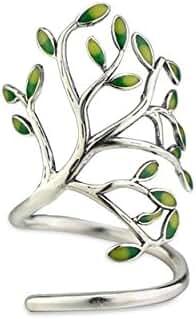 NICOSHINE Innovative Life Tree Sterling Silver Open Ring