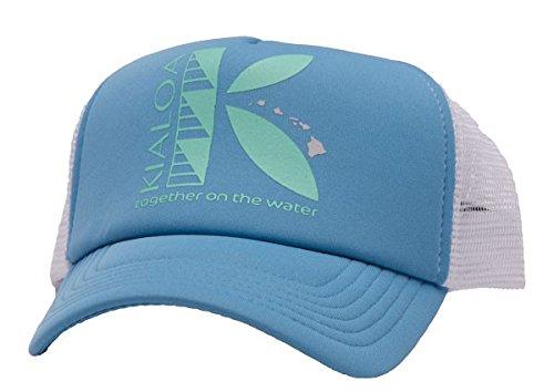 KIALOA Paddles Unisex Snapback Makana Trucker Hat - Blue (One Size)