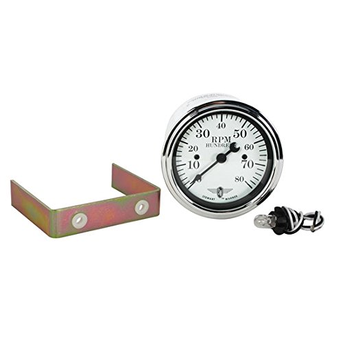 (Stewart Warner 82659 Wings White Face 8000 RPM Tachometer)