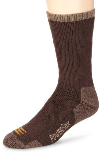 Gold Toe Men's 2-Pk Powersox Heavy Cushion Socks, Bark, 10-13