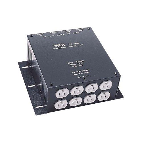 Leviton N4600 4-Channel 600 Watt/Channel Dimmer Pack, Micro-Plex, 120-Volt ()