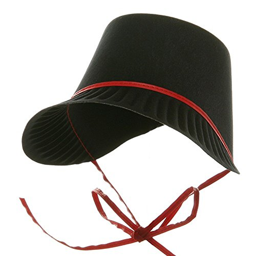 2004 Bonnet (Jacobson Hat Company Thanksgiving Permafelt Pilgrim Bonnet-Red)