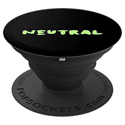 Neutral Agender Pride LGBTQ Retro Gift Product - PopSockets Grip and Stand for Phones and Tablets