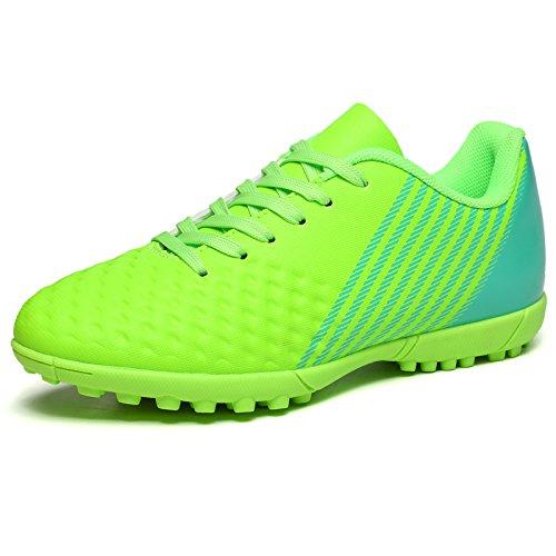 XING Lin Fußball Schuhe New Gummi Broken Nägel Kinder Training Schuhe Jungen und Mädchen Adult Kunstrasen Fußball Schuhe grün