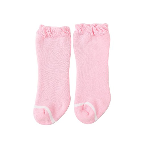 n Socks by FQIAO Thick And Warm Soft Unisex Baby Socks Autumn and Winter Breathable Best Gift for Newborn And Baby -S 6-12 Months Pink (Jane Toy Bag)