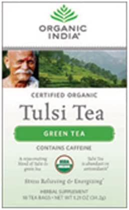 ORGANIC INDIA Tulsi Green Tea, 18 Tea Bags (1 Pack)