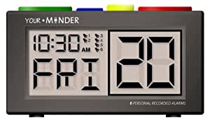 MedCenter Interactive 6 Personalized Alarm Reminder Clock (AC Adapter NOT included)