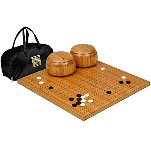 etched-bamboo-go-board-08-thick-w-single-convex-yunzi-stones-and-bamboo-bowls-set
