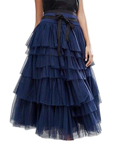 Beauty Ligne Jupe Bleu Long Go Jupon Jupe Tulle Princesse Tutu Fonc A Petticoat t Femme qwIOtWrwB