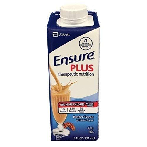 Ensure Plus, Butter Pecan, 8 Ounce Cartons - Case of 24 ()