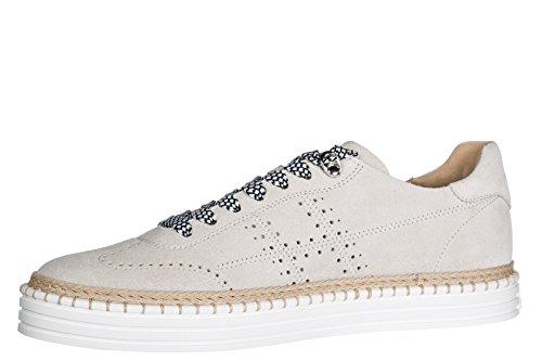 Hogan Mænds Sko Mænd Ruskind Sneakers Sko R260 Beige 1kP9fQ