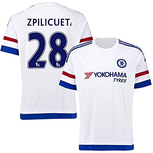 FC Football Jersey Mens Chelsea  28 Azpilicueta Away Soccer Jersey White  good b41335fc9