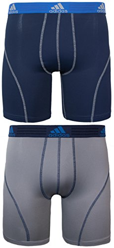 Athletic Sport Underwear - adidas Men's Sport Performance Climalite 9-Inch Midway Underwear (2-Pack), Night Indigo/Light Onyx, Large