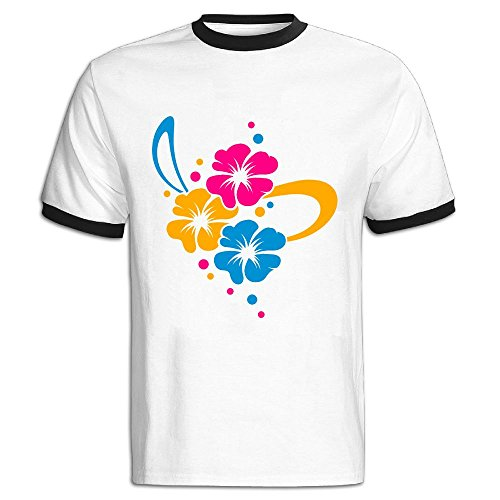 Hit Bouquet - JACKJOM Flower Bouquet With Ribbon Hit Color Tees For Men