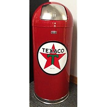 Amazon Com Retro Style Bullet Red Trash Can Texaco Star