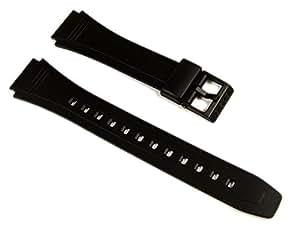 CASIO 10079756 Resin Watch Band for DATABANK DB-36 DB36 DB36-1AV DB36-9AV, Black