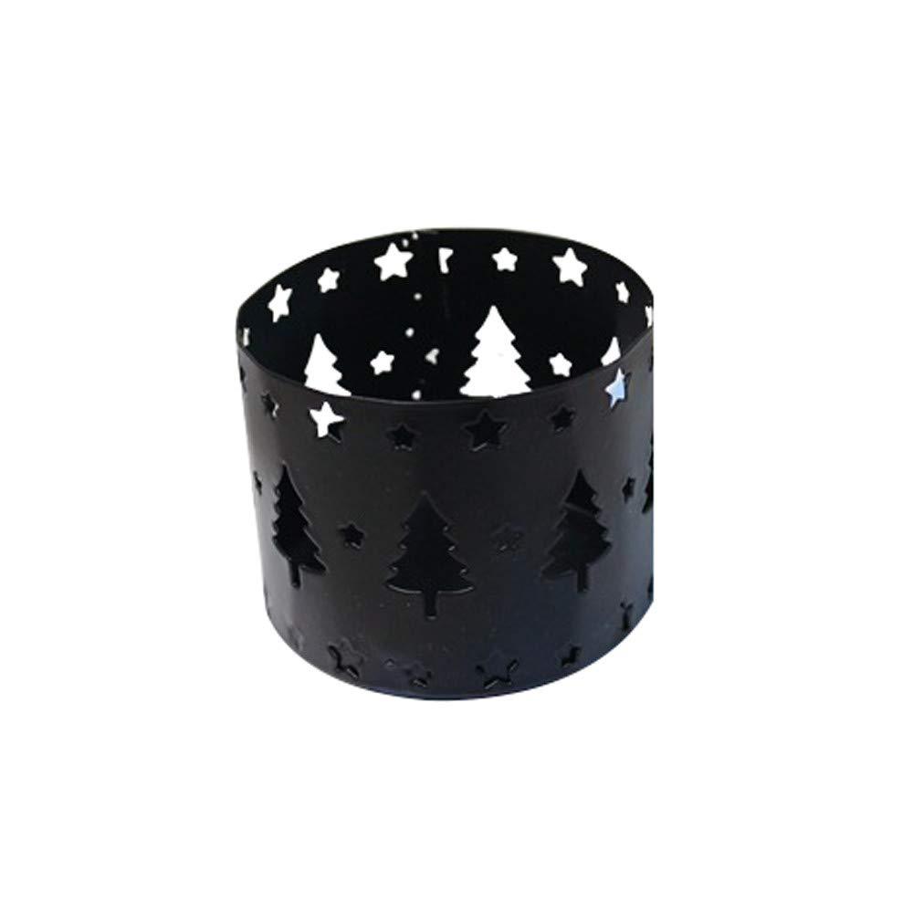 Sinwo Hollow Candle Holder Candlestick Creative Desktop Christmas Decor Party Decoration (D)