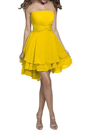 Missdressy - Vestido - trapecio - para mujer amarillo