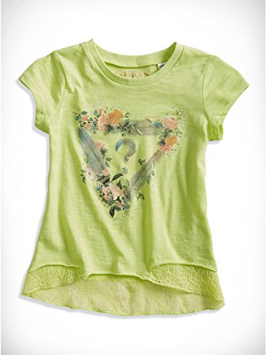 GUESS Kids Little Girl Lace Triangle Tee (2-6x)