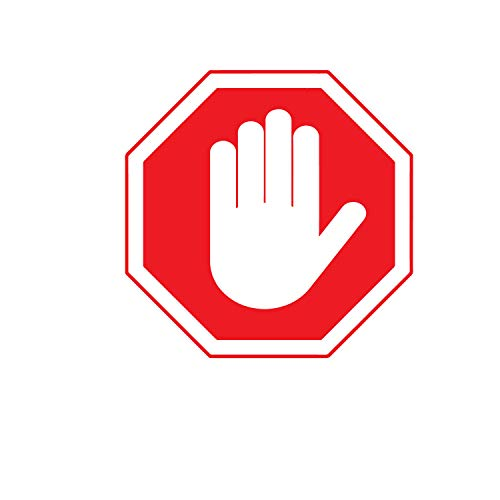 Vinyl Wall Art Decal - Stop Hand Sign - 12