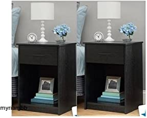 bedroom night stands. Set Of 2 Nightstand MDF End Tables Pair Bedroom Table Furniture Night Stands R