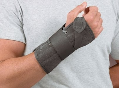 BSN Medical Soft Fit Suede Finish Cock-Up Wrist Brace (Medium Left, - Pro Finish Suede