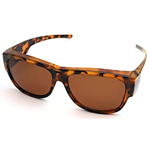 #1 Sale Fitover Lens Covers Sunglasses Wear Over Prescription Glass Polarized St7659pl (z1 medium big blonde tortoise/polarized)